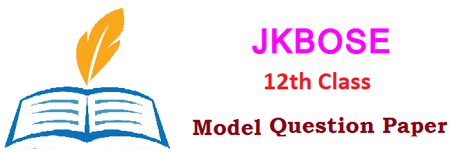 JKBOSE12th Formative (FA) Summative (SA) Exam Exam Question Paper 2019