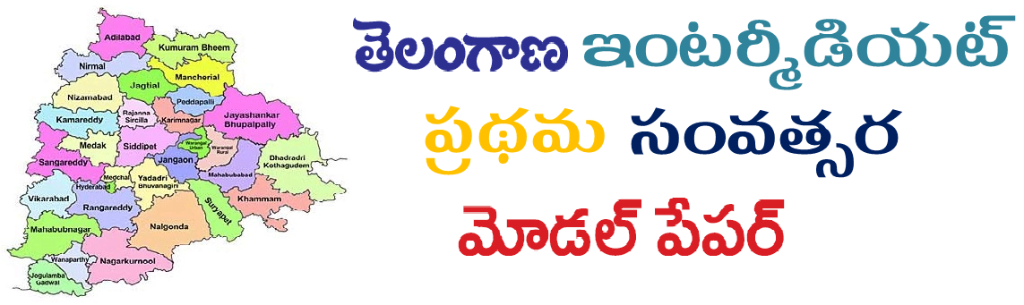 BIE Telangana (TS) Inter 1st Year Model Paper 2021