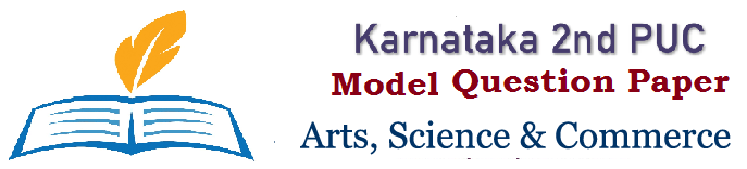 Karnataka PUC Sample Question Paper 2019 Blueprint