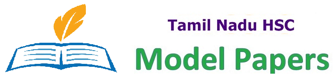 TN Plus Two Model Papers 2019