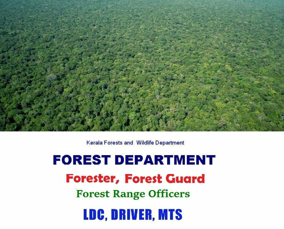 Kerala Forests and Wildlife Department Forest Guard Recruitment 2019