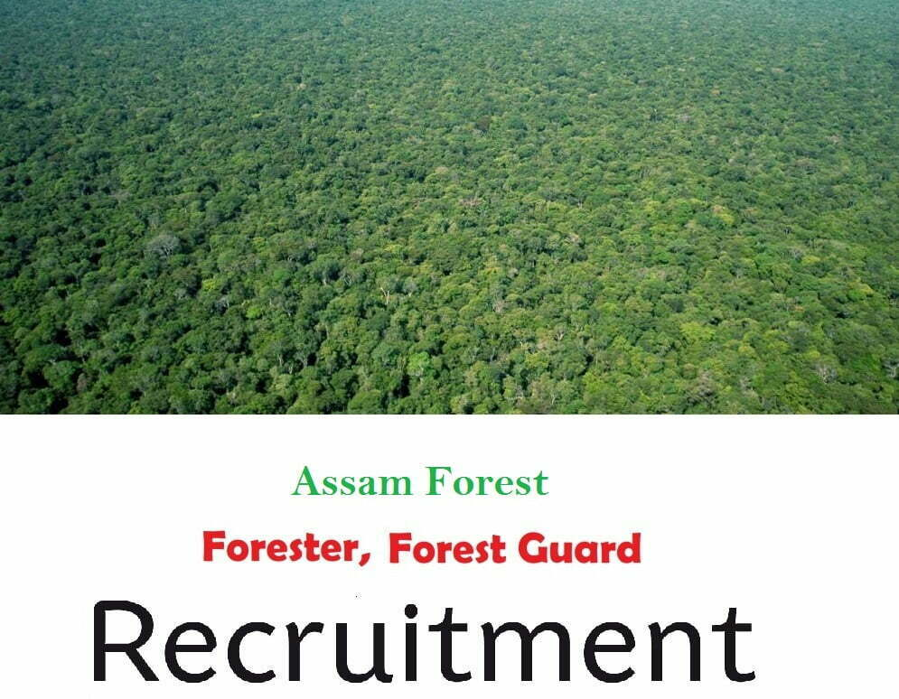 APSC Forest Department Recruitment 2019