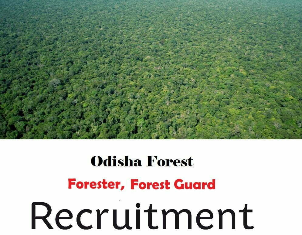 Odisha Forest Department Recruitment 2019